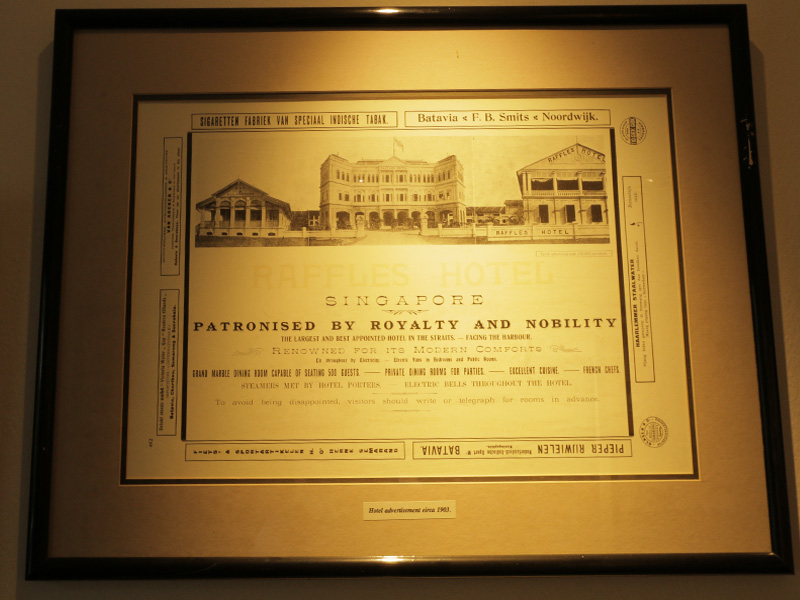 RAFFLES HOTEL SINGAPORE Hall of Fame print Royalty and Nobility