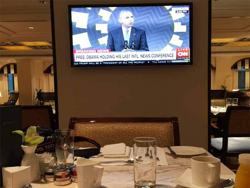 INTERCONTINENTAL SINGAPORE the Walking Critic has breakfast with President Obama