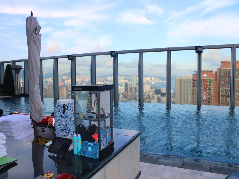 W HONG KONG Wet Deck view as you step onto roof