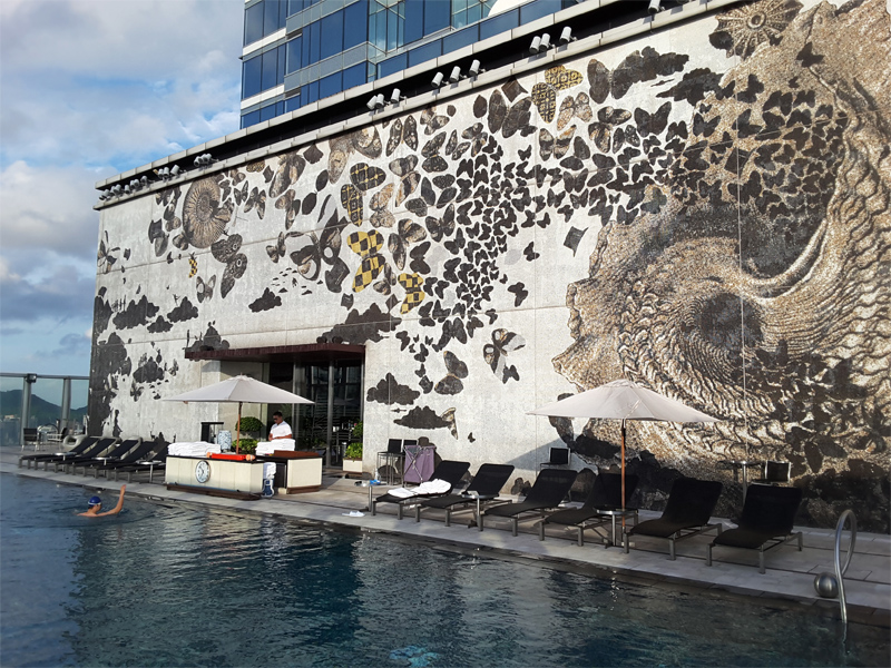 W Hong Kong Wet Deck mozaic wall artwork