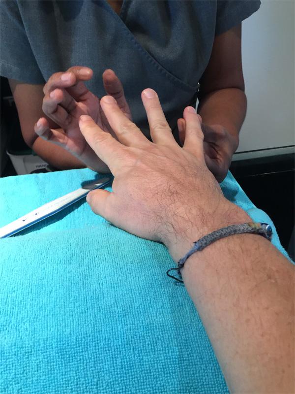 Manicure at the Away Spa W Bangkok