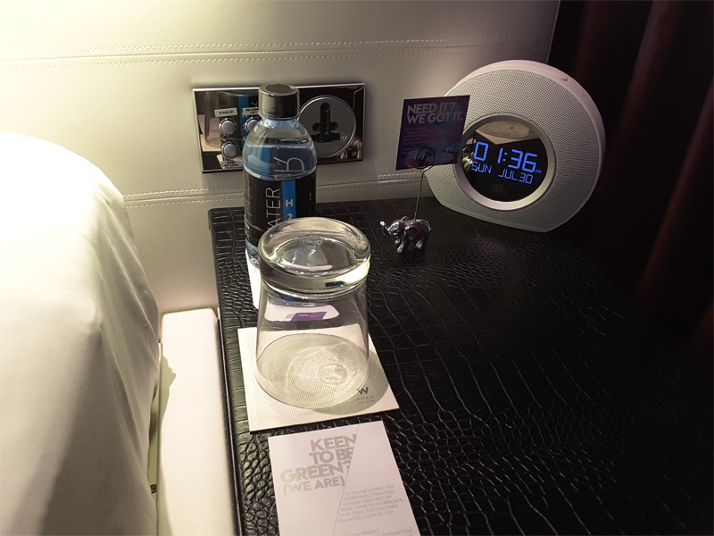 W BANGKOK HOTEL REVIEW bedside table with light switch