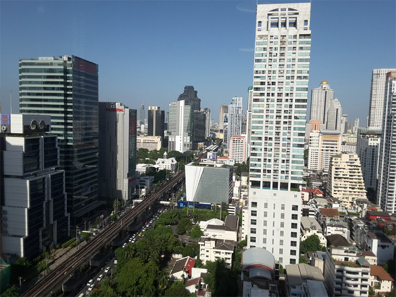 W BANGKOK HOTEL REVIEW-view-from-the-24th-floor-Sathorn-Road