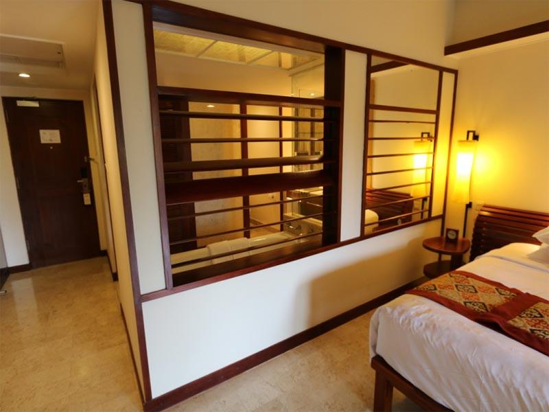GRAND HYATT NUSA DUA HOTEL REVIEW BALI bathroom to bedroom view