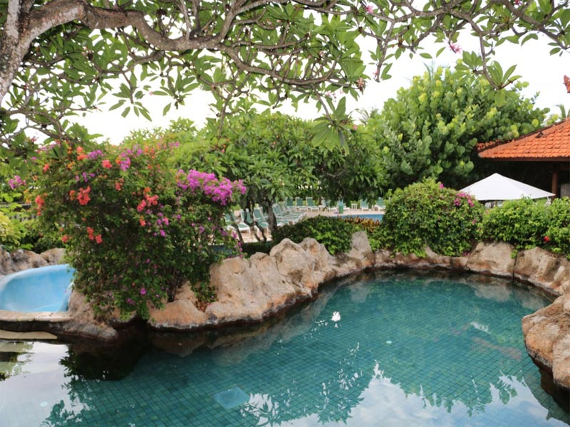 GRAND HYATT NUSA DUA HOTEL REVIEW pool area with plants