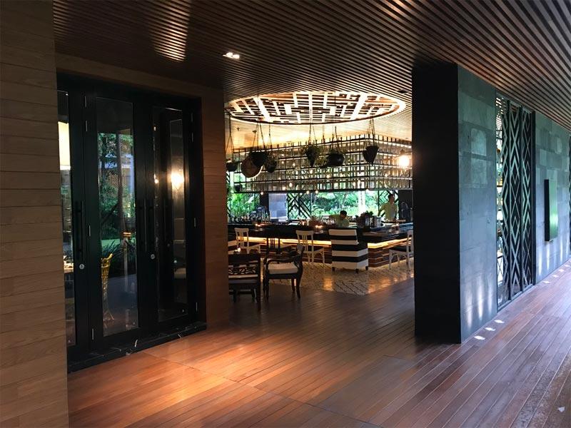 HOTEL INDIGO BALI REVIEW Tree Bar entrance