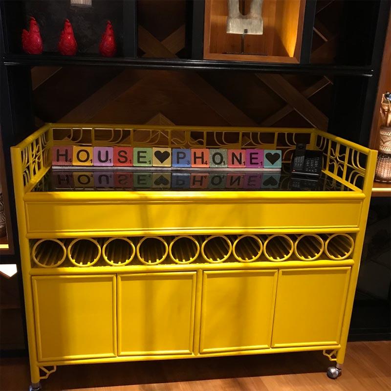 HOTEL INDIGO BALI REVIEW telephone table yellow