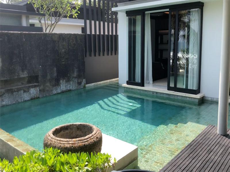SOORI BALI villa view to bedroom with pool