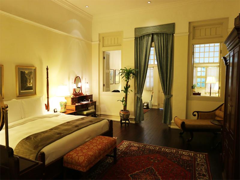 Raffles Hotel Singapore ground floor suite room 106