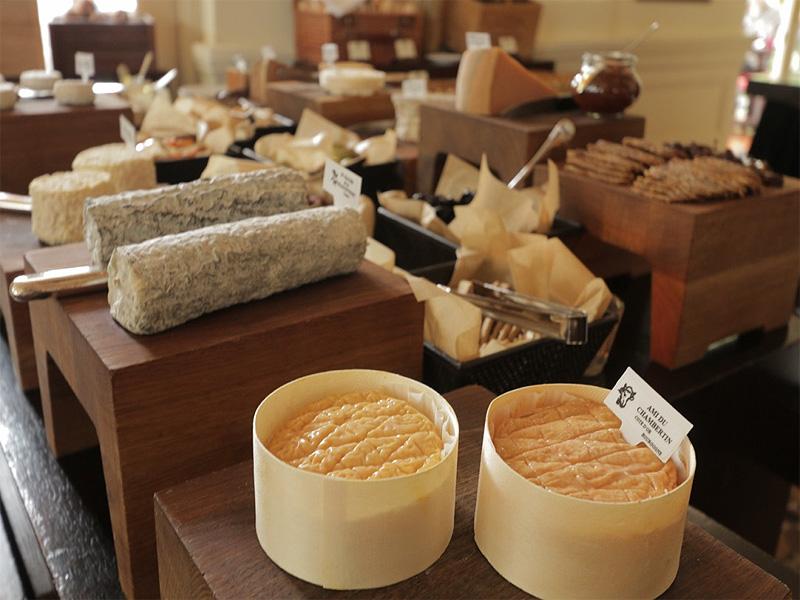 Raffles Hotel Bar & Billiard Room brunch cheese board selections