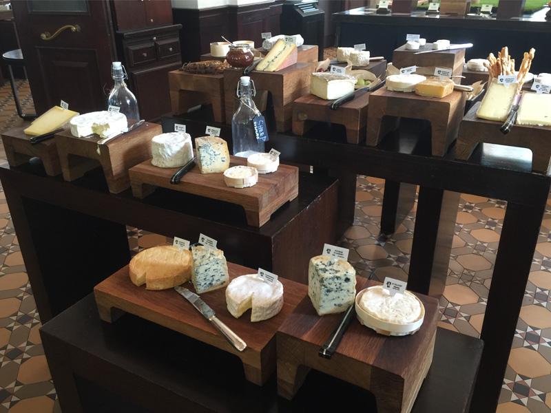 Raffles Hotel Singapore cheese board brunch Bar & Billiard Room