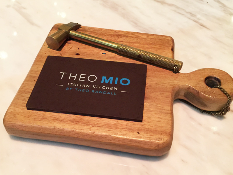 Theo Mio chocolate and bronze hammer Intercontinental Bangkok