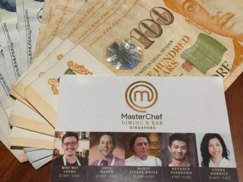 INTERCONTINENTAL SINGAPORE Master Chef card