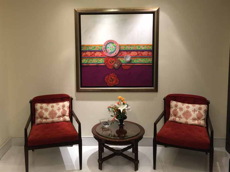 INTERCONTINENTAL SINGAPORE second floor landing artwork
