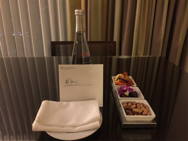 INTERCONTINENTAL SAN FRANCISCO welcome plate
