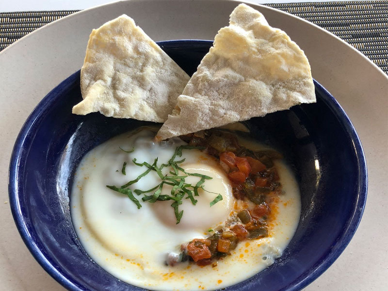 SOORI BALI Moroccan eggs breakfast