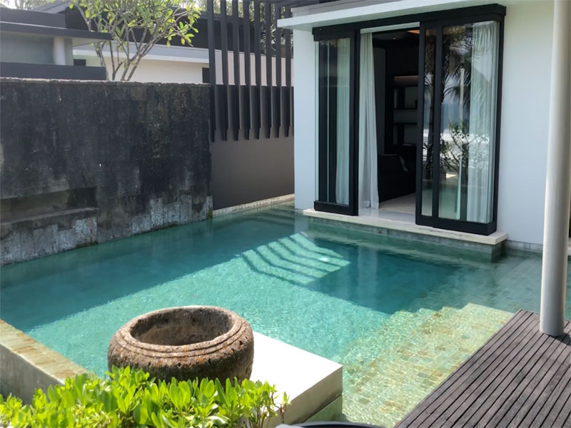 SOORI BALI villa view to bedroom with pool