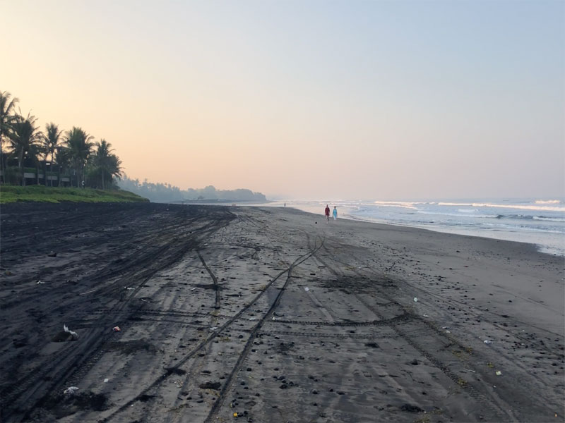 SOORI BALi black sands beach at dawn